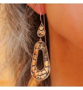 boucles d'oreilles en argent ajour