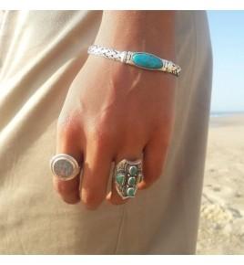 bracelet argent 925 et turquoise