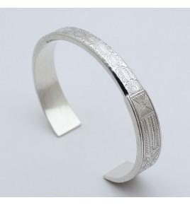 bracelet jonc argent grav