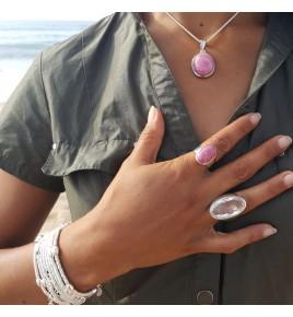 bague argent 925 et cristal de roche