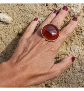 bague et pierre orange
