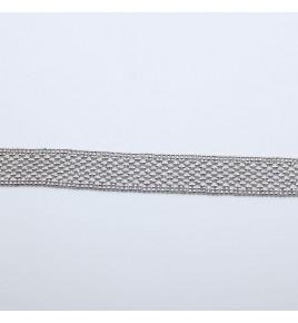bracelet argent rhodie dentelle