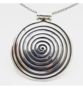 pendentif spirale argent 925