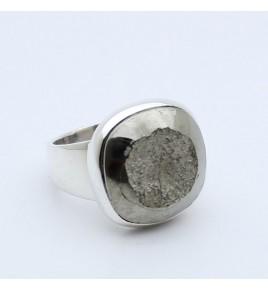 bague argent 925 et pyrite