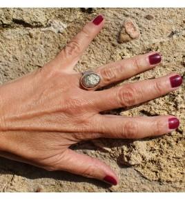 bague argent 925 pyrite