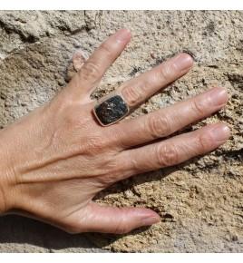 bague argent et astrophyllite