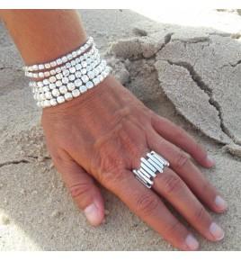 bracelet perles argent