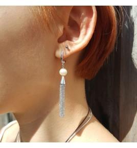 boucles d'oreilles argent rhodié