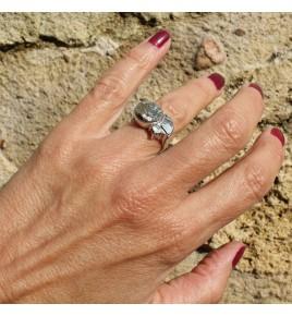 bague pyrite et argent