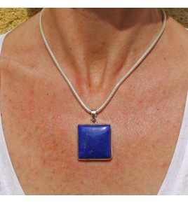 pendentif argent 925 et lapis lazuli