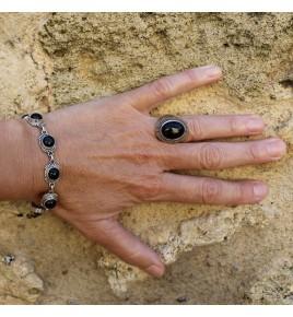 bracelets argent et pierres