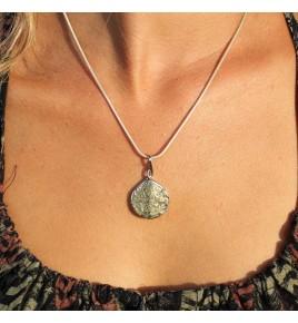 pendentif argent et pyrite