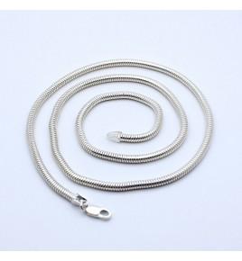 chaîne argent maille serpent