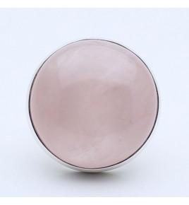 bague argent et pierre rose