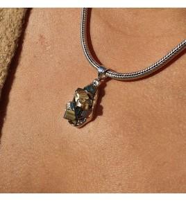 pendentif pyrite brute