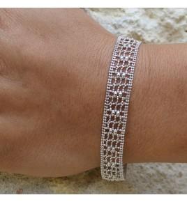 bracelet argent dentelle