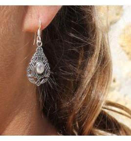boucles d'oreilles argent pierres naturelles