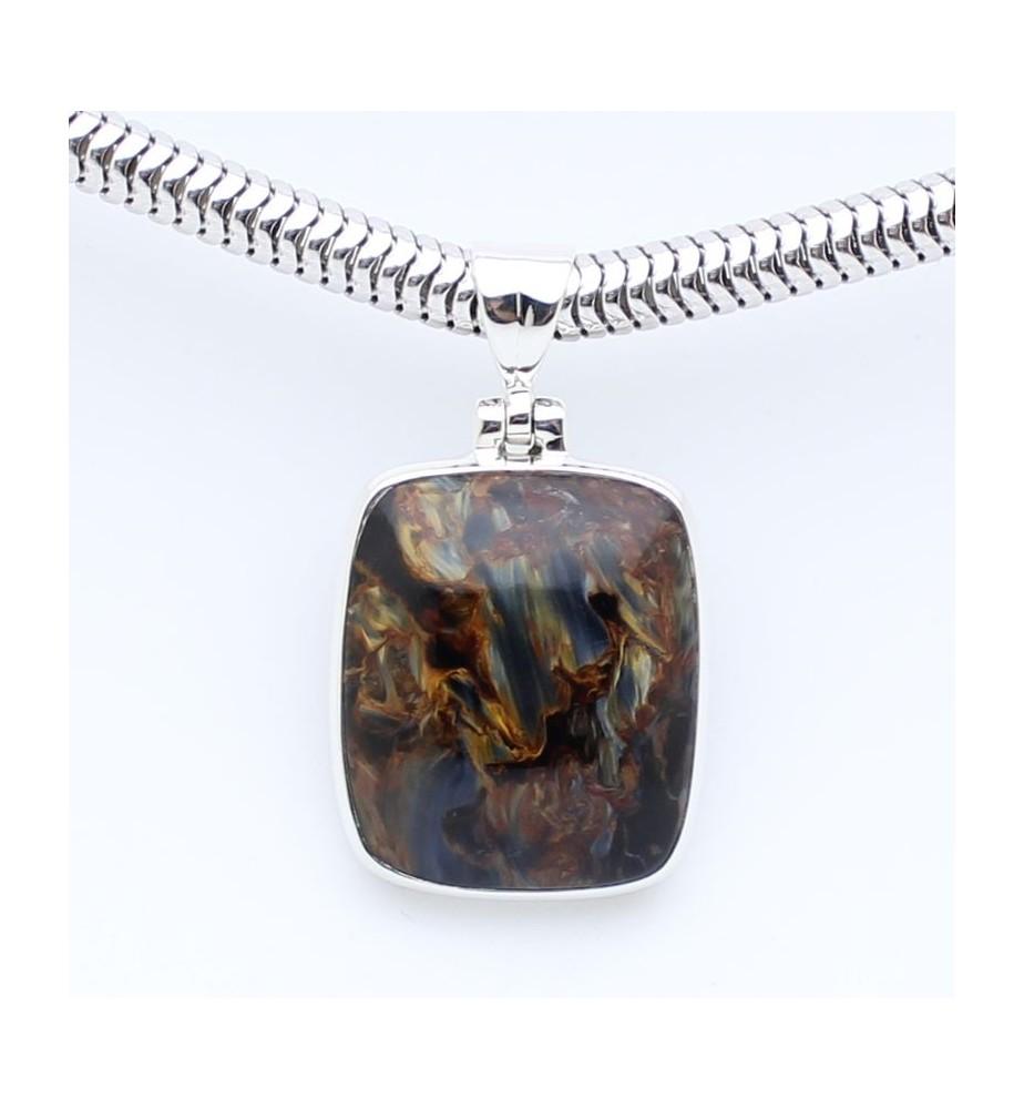 pendentifs argent et pierres