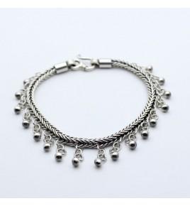 bracelet pampille argent