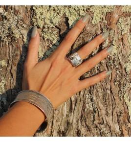 bague pyrite femme