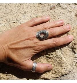 bague argent cristal de roche