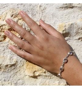 bracelet argent pierre naturelle