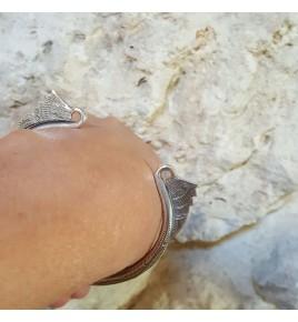 bracelet jonc argent massif