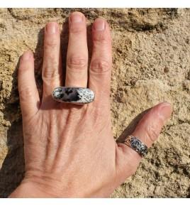 bague avec pierre d'agate