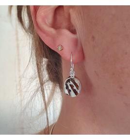 boucles d'oreilles astrophyllite