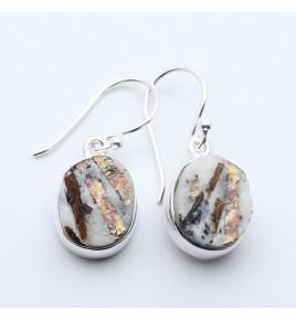 boucles d'oreilles pierre écru