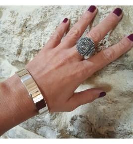 jonc bracelet argent