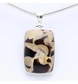 pendentif argent peanut wood