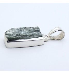 pendentif argent pierre verte