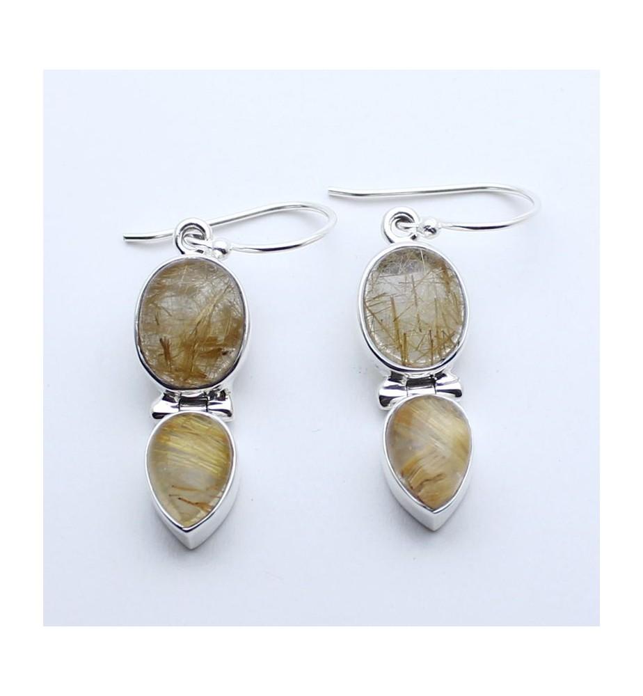 boucle d'oreille quartz