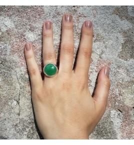 bague argent jade vert