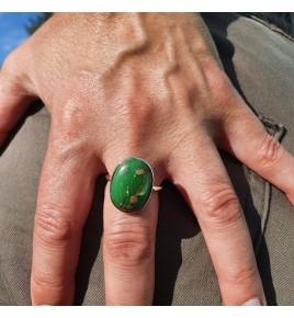 bague pierre verte