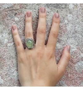 bague pierre vert d'eau