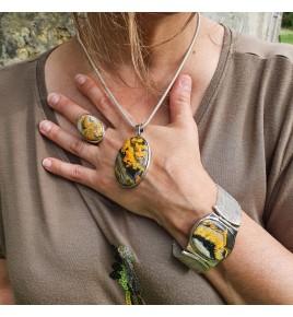 bumblebee jasper pendant