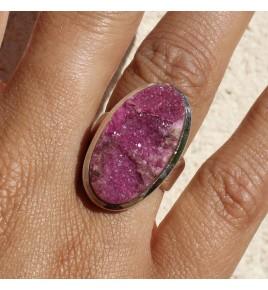 bague avec pierre rose