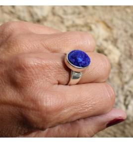 bague azurite bleu