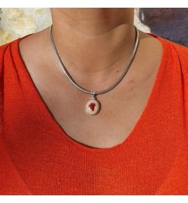 pendentif pierre orange