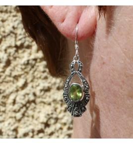peridot boucle d oreille