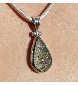 pendentif femme argent pierre