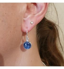 cyanite  boucles d'oreilles
