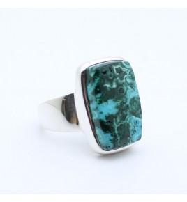 bague pierre bleu vert