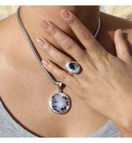 agate dendritique bijoux