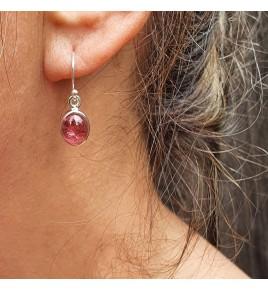 boucle d'oreille tourmaline rose