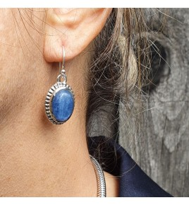 cyanite boucle d'oreille