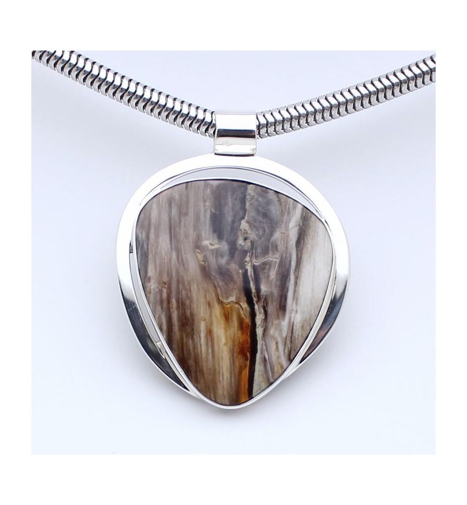 bois pétrifié  bijoux