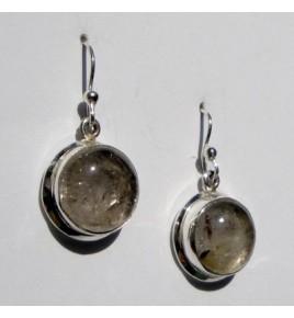 Boucles d'oreilles argent et quartz rutile BO402
